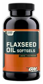 フラックスシード油のサプリの写真