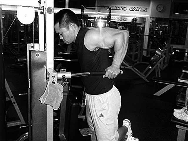 木澤選手のトレーニング