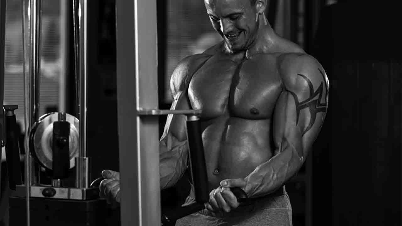 低重量・高レップの二頭筋のトレーニングのイメージ