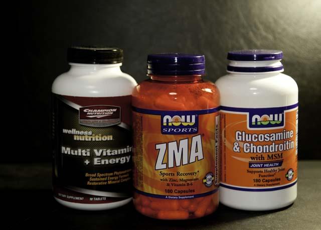 マルチビタミンにZMAにグルコサミン