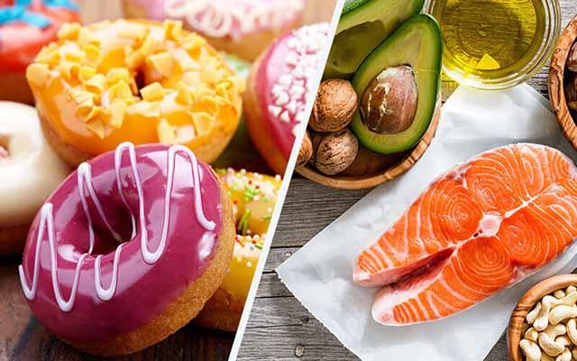 カロリーの多い、少ない食事