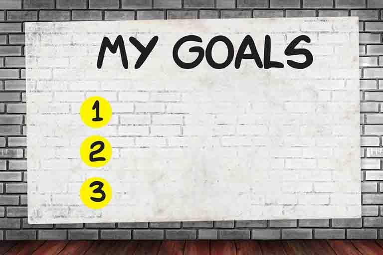 目標を決めることのイラスト